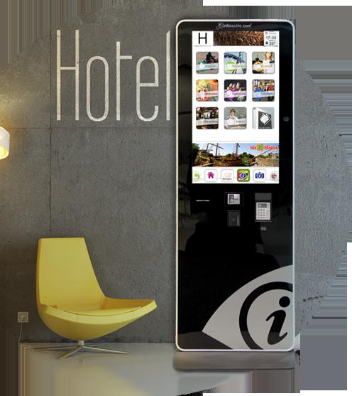 Mupi los puntos informativos de Infotactile  se están integrando en las recepciones de los mejores hoteles.