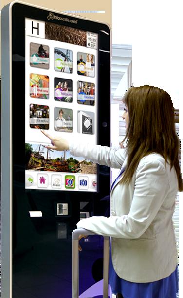 Mupi Con Infotactile tus promociones y ofertas llegarán directamente el punto de demanda de las mismas.