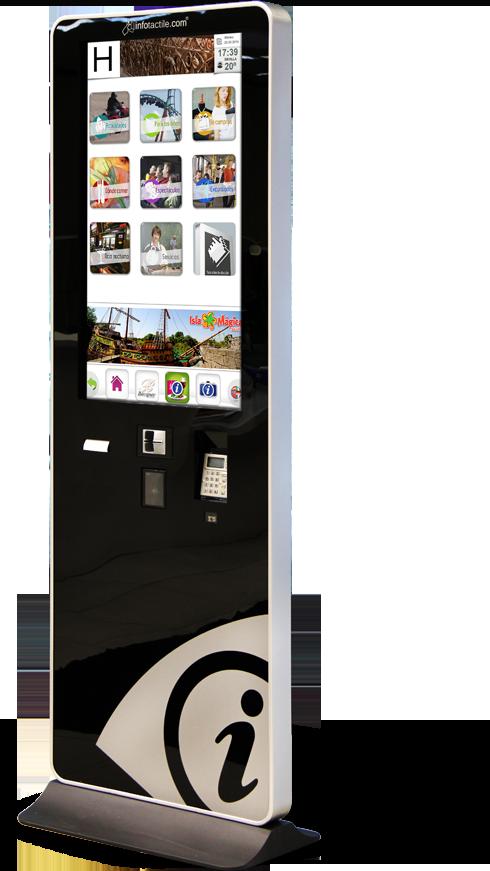 Mupi Infotactile es un dispositivo táctil que esta ubicado en los mejores hoteles